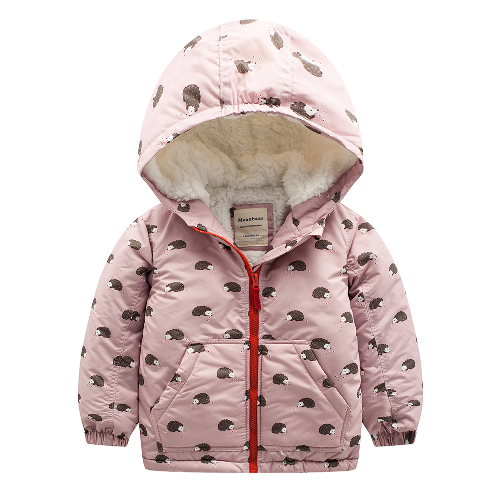 Meanbear M48 Fashion Hedgehog Winter Cotton Chirden Thicken Padded Lining Jacket Hoodies Keep Warm Boy Girl Coat Tops Outwear m43 spring autumn winter child thicken padded lining jacket hoodies boy