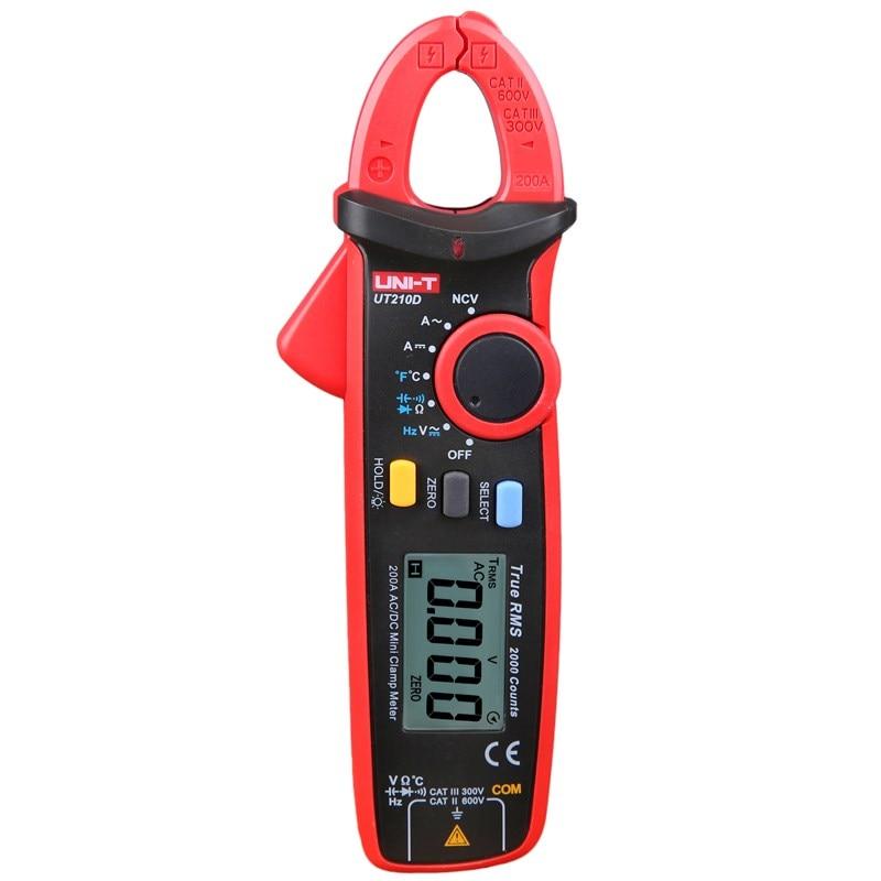 UT210D Mini Digital Clamp Meter Ammeter High-precision Frequency Measurement AC Current Tester Portable Clamp Meter Multimeter cem dt 360 ac clamp meter cem everbest ac ac digital clamp meter 600v ammeter