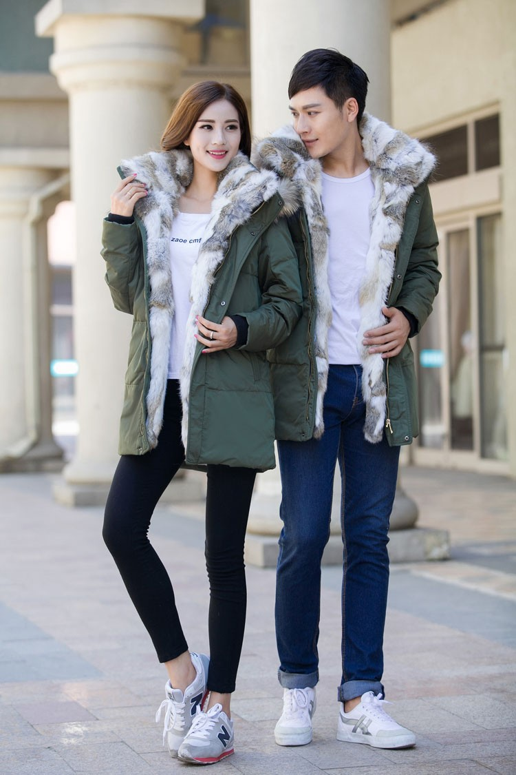 Winter Down Jacket Men Fur Parka Fashion Casual Thicken Warm Fur collar Hooded Men Women jacket&coat couple Down Jacket S-5XL (30)