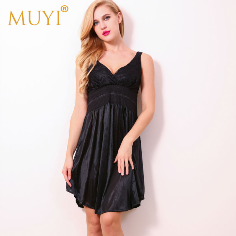 Sexy Sleepwear Lace Nightgowns Women Night Dress Sleeveless Babydoll Sleepwear Women Plus Size Sex Nightwear Night Gown Nuisette
