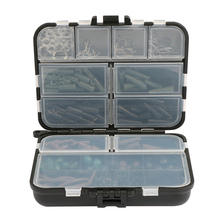 Pisfun 187Pcs/set Carp Fishing Accessory Set Carp Tubes Safety Clips Hooks Swivels Kit Hair rigs With Hard Plastic Tackle Box