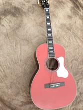 free shipping Legacy guitar New Yorker Parlor Acoustic/Electric Guitar OOO body maroon color customize pearl vintage guitar