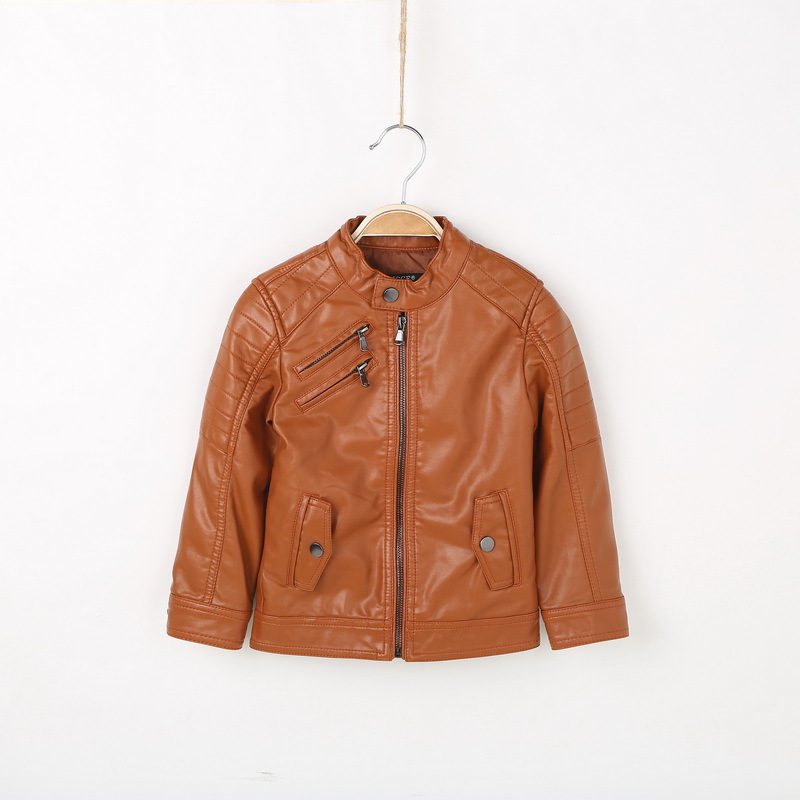 Popular Boys Brown Leather Jacket-Buy Cheap Boys Brown Leather ...