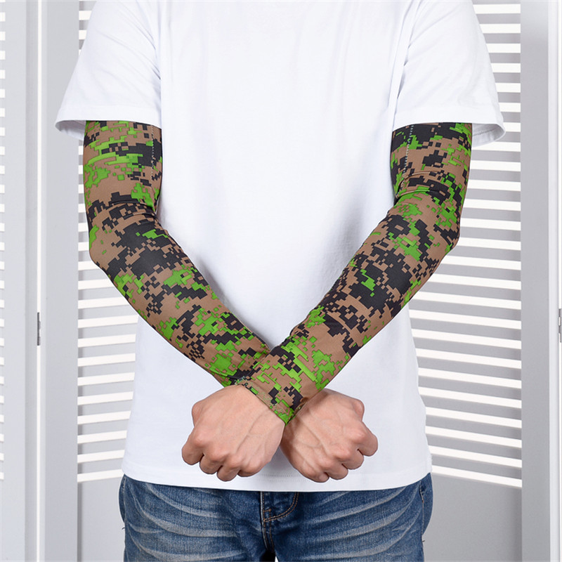 Summer Men Protection Arm Muff Anti-UV Arm Muff Camouflage Color