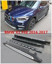Для BMW X1 F48 2016.2017 Автомобиля Подножки Авто Сторона шаг Бар Педали Высокое Качество Новый Оригинальный Дизайн Nerf бары