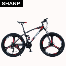 цены Shanp Mountain Bike Full Suspension Frame Steel Brake Disc Mechanical 24 Speed Shimano 26