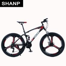 Shanp Mountain Bike Full Suspension Frame Steel Brake Disc Mechanical 24 Speed Shimano 26