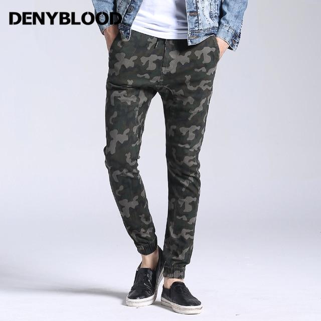 grand choix de 42045 e70aa € 26.3 44% de réduction|Denyblood Jeans Harem Pantalon Hommes Extensible  Cargo Pantalon Élasthanne Ceinture Bas Armée Vert Camouflage Casual  Pantalons ...