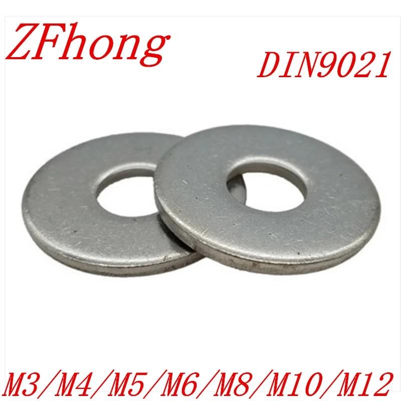 M3 KINDOYO Acier Inoxydable Rondelle Ressort Argent M3//M4//M5//M6//M8//M10//M12 Rondelles Plates Entretoises Rondes 100PCS