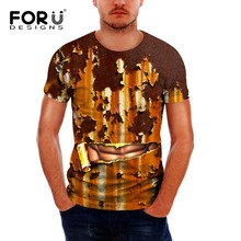 FORUDESIGNS 3D Mental Muscle Printed Men T Shirt Fashion Novelty O neck Short Sleeve Tee Tops Homme Clothes Man Tees Mens