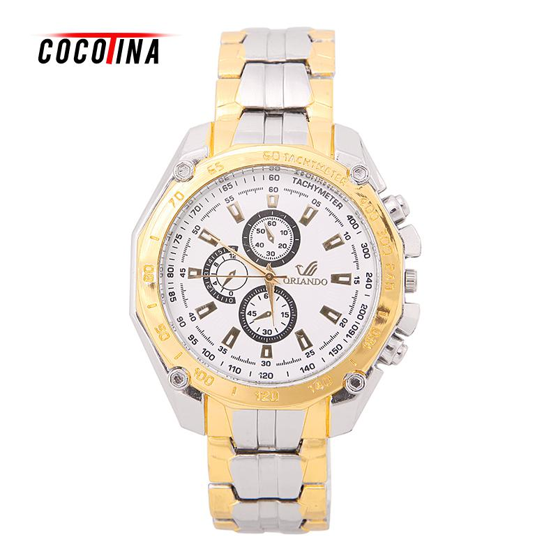 COCOTINA Fashion watch Men Stainless Steel Watches Analog Quartz Movement Wrist Watch Sport New relogio L05861