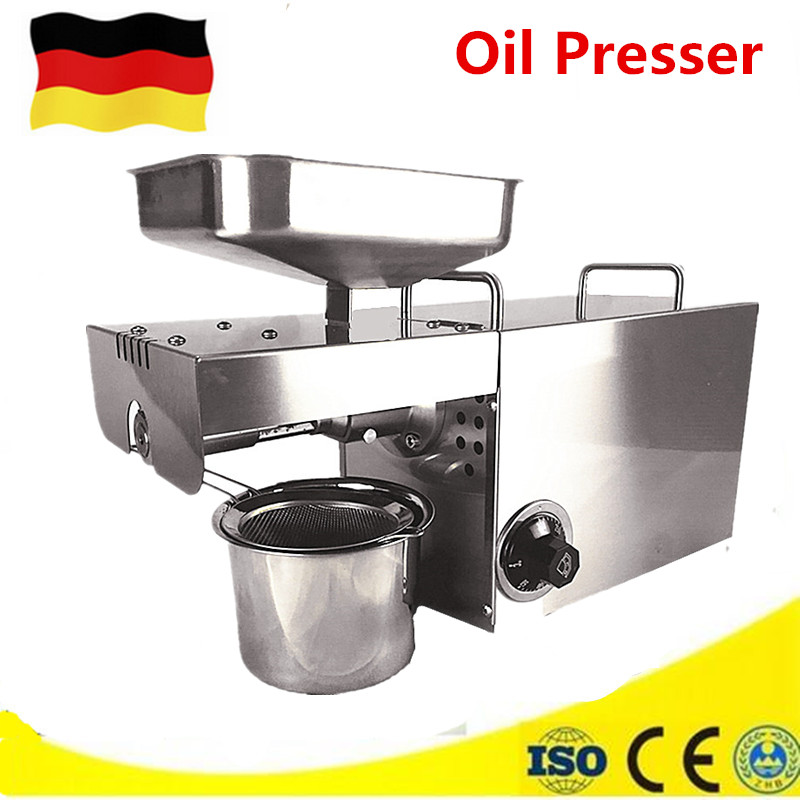 Mini Stainless Steel Heat And Cold Home Commercial Peanut, Cocoa Soy Bean Oil Press Machine Oil Extractor Expeller Presser 110 240v commercial small oil press machine peanut sesame cold press oil machine high oil extraction rate cheap price