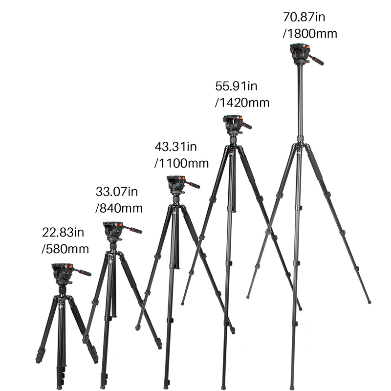 Ulanzi COMAN プロカメラビデオ一脚三脚ワット 360 流体ヘッド軽量アルミコンパクトニコンビデオカメラカメラ  グループ上の 家電製品 からの 三脚 の中 2