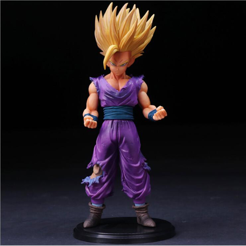 25cm Anime Dragon Ball Z Super Saiyan Son Gohan Action Figures Master Stars Piece Dragonball Figurine Collectible Model Toy W041 shfiguarts anime dragon ball z son gokou movable pvc action figures collectible model toys doll 18cm dbaf094