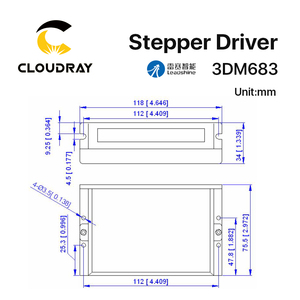 Image 5 - Cloudray Leadshine 3 Fase 3DM683 Stappenmotor Driver 20 60VDC 0.5 8.3A