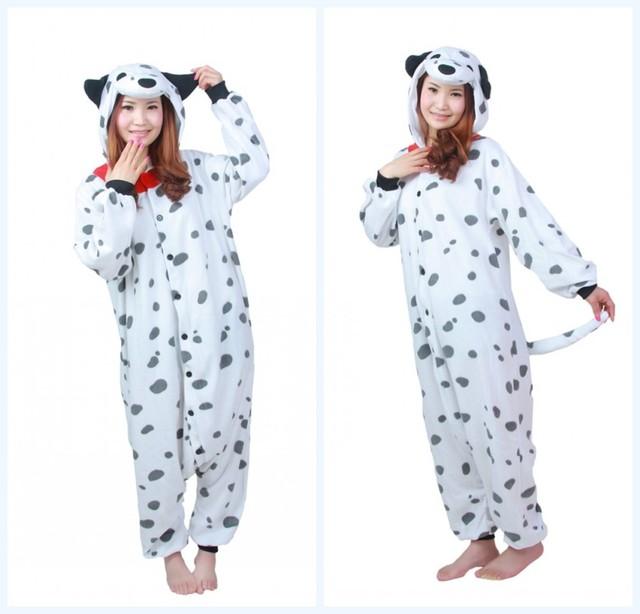 Winter Polar fleece Dalmatian Spotty Dog Fleece Onesie Homewear Hoodie Pajamas Sleepwear Robe For Adults Party  sc 1 st  AliExpress.com & Winter Polar fleece Dalmatian Spotty Dog Fleece Onesie Homewear ...
