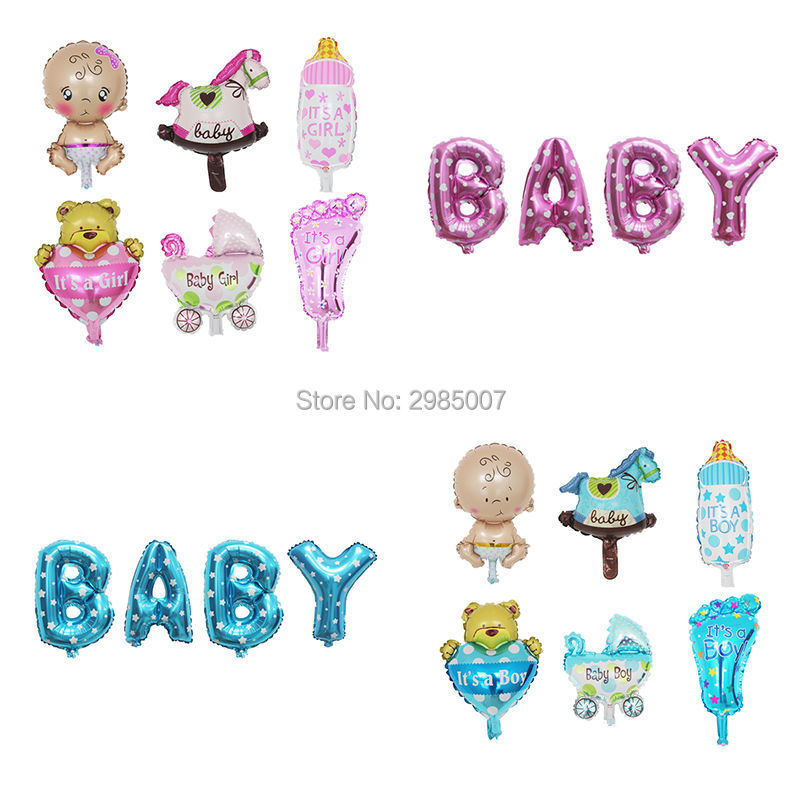 boy girl baby shower balloons christening baptism decorations baby shape balloon gender reveal party supply