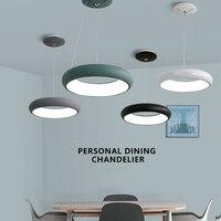 White Black Grey Green Led Chandelier AC85 265V Modern Led Hanging Chandelier For Living Dining Room