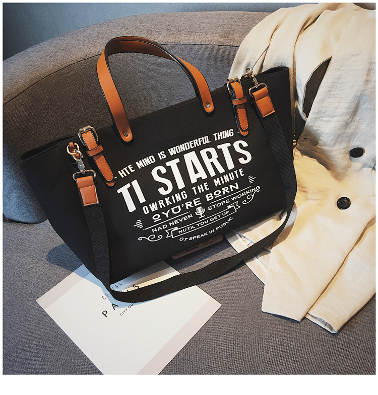 Luxury Ladies Bags Canvas Fashion Large Capacity Tote Bags Letter Shoulder Messenger Bags for Women 2018 Casual Tote Luis Vuiton 23