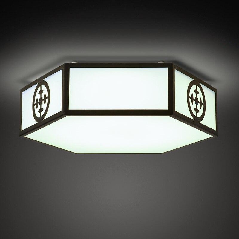 Новый потолок в китайском стиле, световые креативные светильники для гостиной, декор для прохода, кабинет, спальня, шестиугольная акриловая