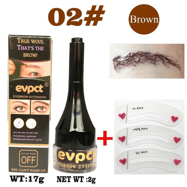 Eyebrow Enhancers Fiber Natural Hair Gel Makeup Eye Brow Extension Tinted Black Brown Long Lasting Tattoo Eyebrows Women 2