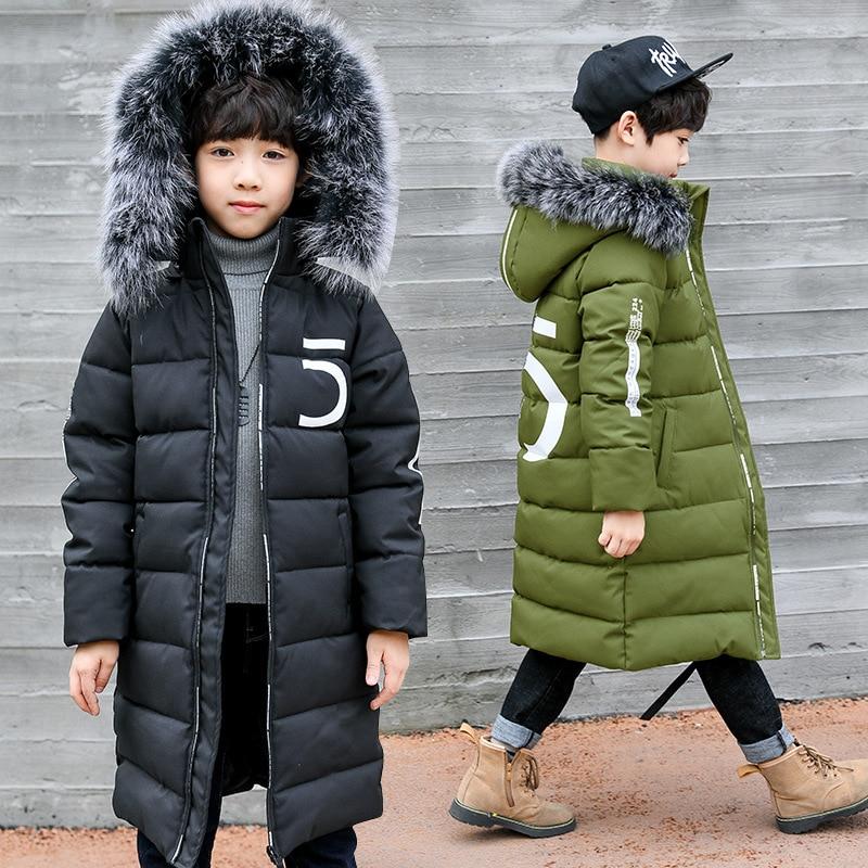 Boys Jackets Kids Coat Warm Waterproof Winter Children Outerwear Thicken for 3-12-Years-Old