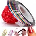 10 Color / bolsa 20 m Rolls Nail Art UV Gel Tips Striping etiqueta engomada DIY decoración 6PXE 7GSV