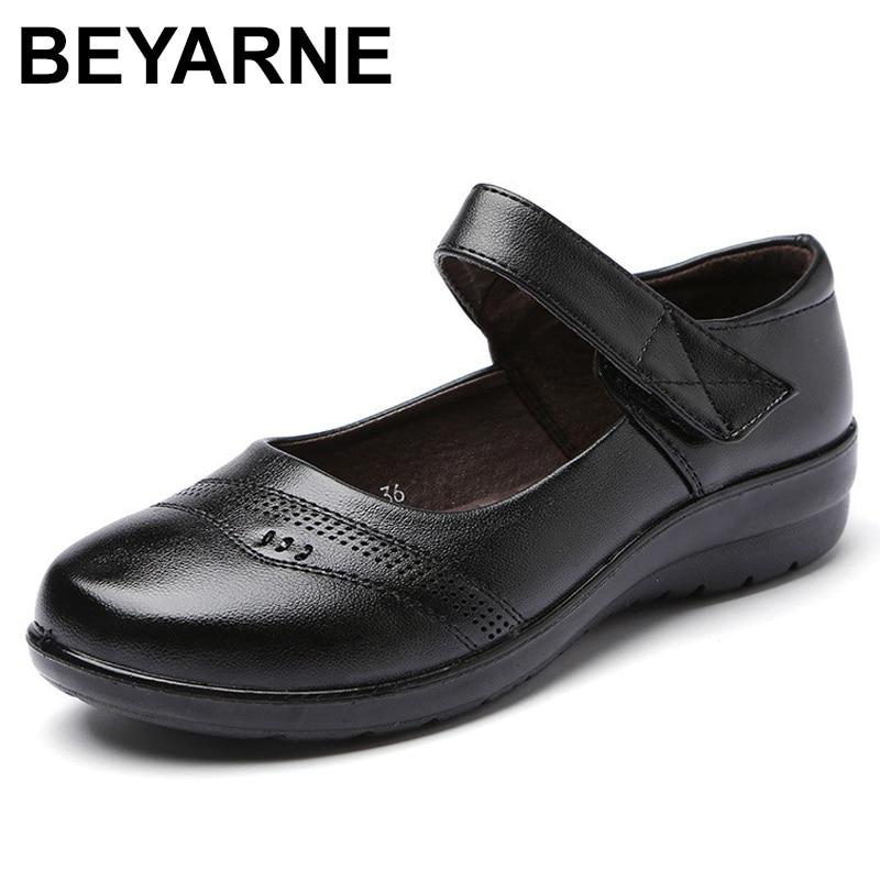 BEYARNENewSpring Autumn Women Flats Shoes Fashion Round Toe Sweet Comfort Faux LeatherWomen MaryJanes  Buckle Strap dropshippingWomens Flats   -