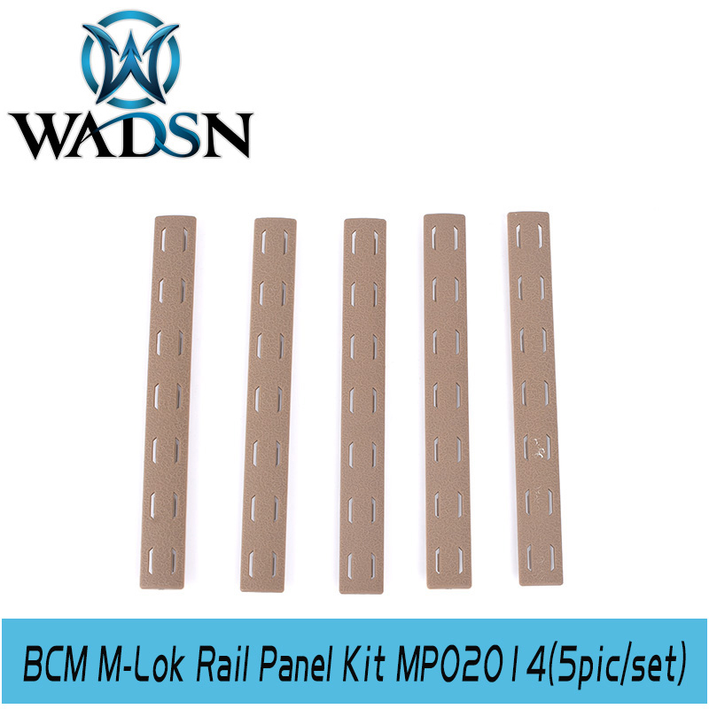 Image 2 - WADSN Airsoft BCM M Lok Panel Kit (5 pcs) Tactical Softair Polymer Rail Set Protector MP02014 Weapon Light Accessories-in Weapon Lights from Sports & Entertainment