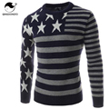 Male Sweater Pullover Men 2017 Male Brand Casual Slim Sweaters Men Five-Pointed Star Printed Stripes Hedging O-Neck Men'S
