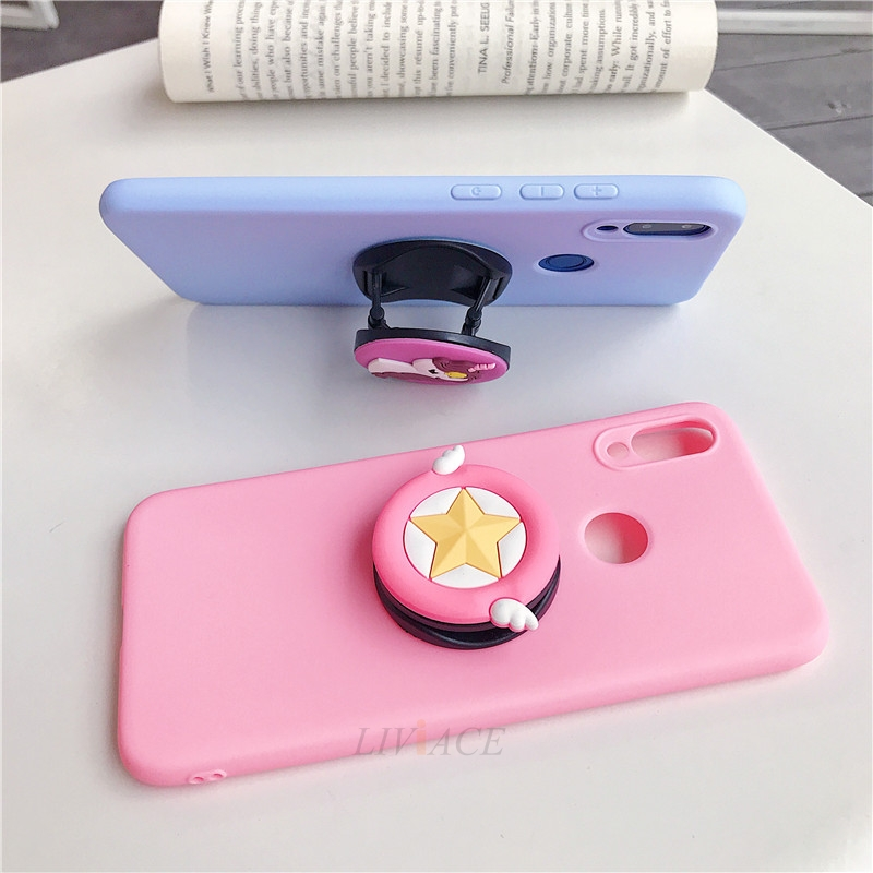 3D Cartoon Silicone Phone Standing Case for Xiaomi And Redmi Phones 7