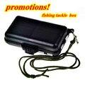 free shipping 5pcs/lot small black plastic fishing tackle box 11*6.5*3cm 66g Accept wholesale fishhooks baits box case