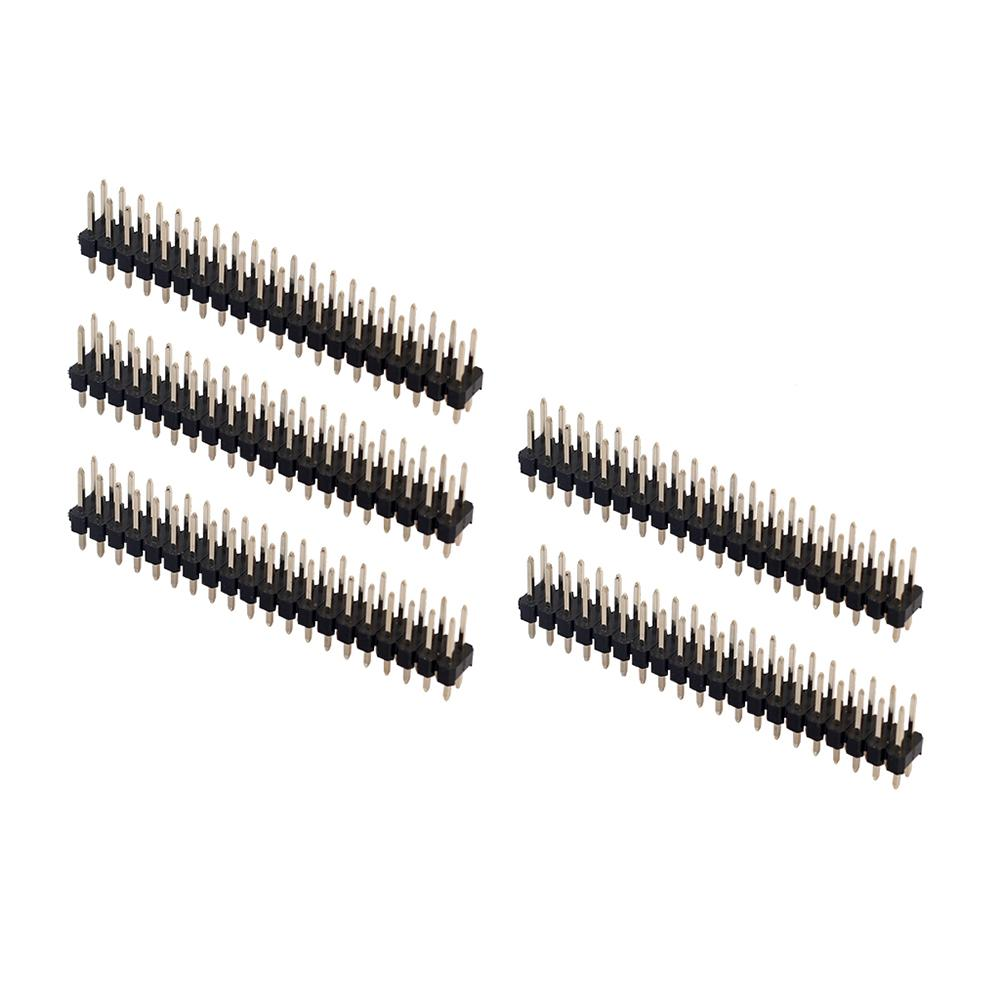 New Arrival Durable 5 Pcs 2.54mm 40 Pin Angle Connector Headers Linker For Raspberry Pi