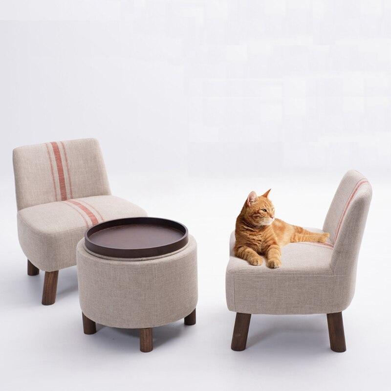 Style Pastoral de canapé en tissu, ensemble de canapé en bois, chaises de loisirs, meubles de salon, canapé de style japonais, canapé de salon 100% coton