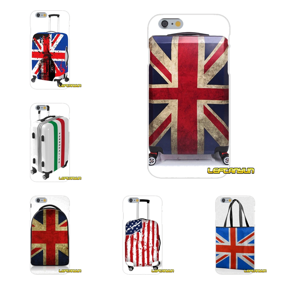 flags travel bags clear Slim Silicone phone Case For Samsung Galaxy S3 S4 S5 MINI S6 S7 edge S8 Plus Note 2 3 4 5