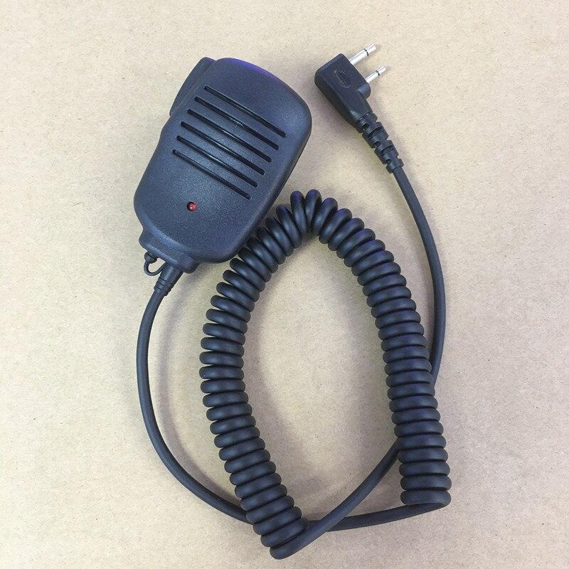 Honghuismart Shoulder Speaker Microphone For Icom IC-V8,IC-V82,IC-V80E,F21 F14 F11 Etc Walkie Talkie With Indicate Light