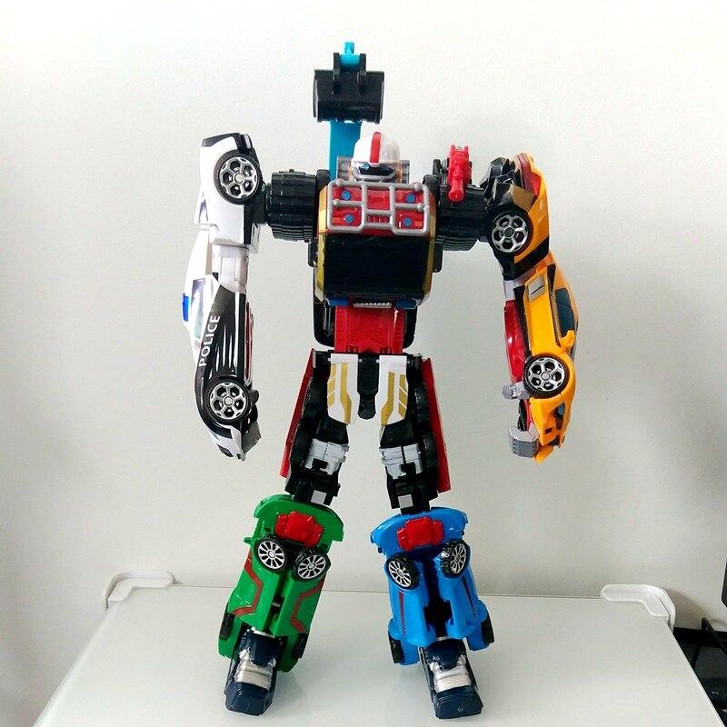 New Tobot Transformation Robot Toys Cartoon Tobot Super Big 42CM 6 In 1 Merge Deformation Robot
