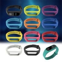11 Colors Silicone Replace Bracelet Wrist Strap for Mi 2 Silicone Band Replacement Wristband for Xiaomi Mi Band 2 Smart Bracelet