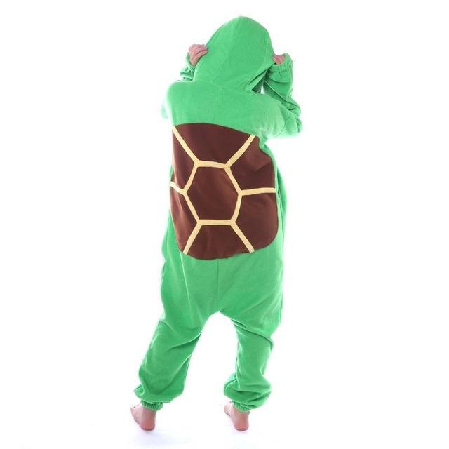 Unisex Adult Turtle Onesie tortoise Pajamas Anime Costume Dress Robe
