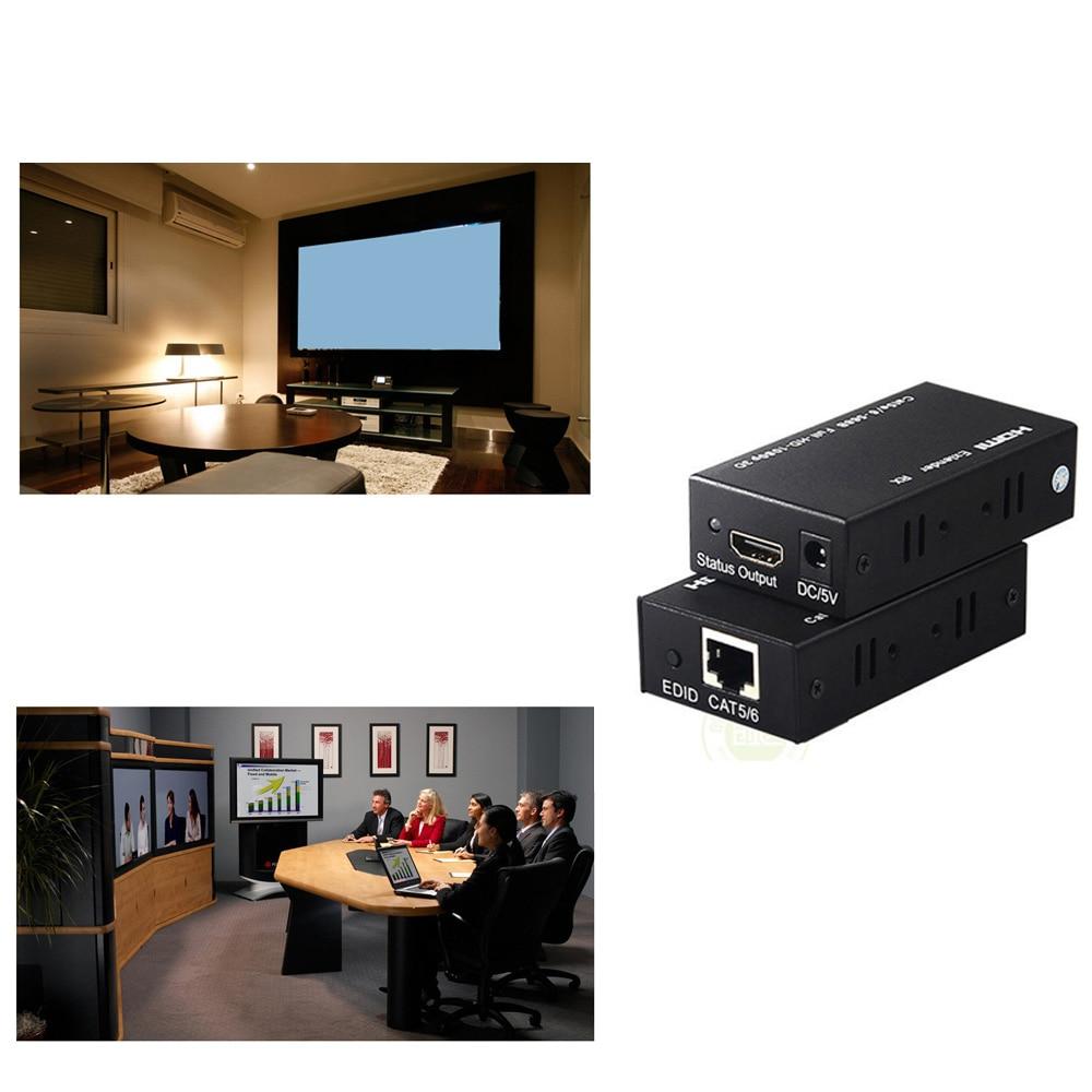 HDMI EXTENDER RJ45 LAN Cable Up to 200FT Kit 1080P/3D 60M,Transmitter Receiver hdmi extender rj45