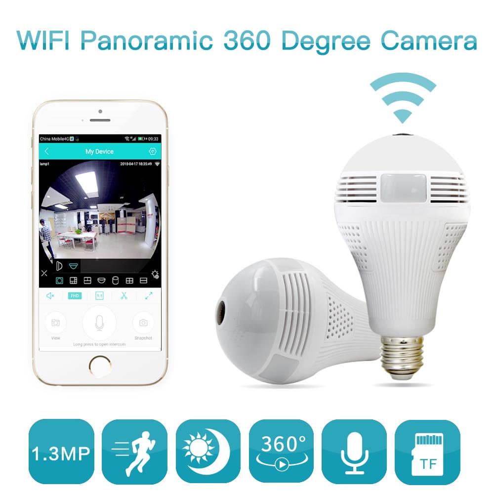 960 P 360 grad Smart Home Drahtlose Ip-kamera Lampe Licht FishEye 3D VR Kamera 1.3MP Home Security WiFi Kamera panorama