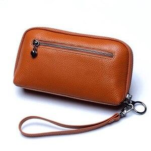 Image 5 - 6 couleurs mode femme sac à main 100% en cuir véritable excellente qualité pochette pour femmes sac Style européen et américain bracelets sacs