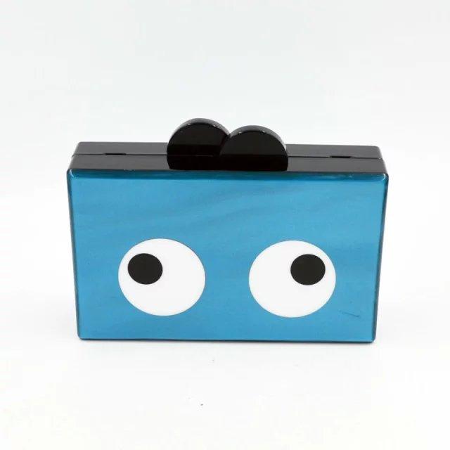 ФОТО Blue Pearl With Eye Style Acrylic Clutch Purse Bag Mini Flap Women Handbag Acrylic Box In Evening Bag Nice Acrylic Bag Envelop
