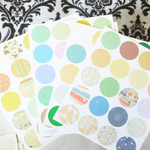 160pcs/lot Creative Round Paper Sticker Dot Grid Stripe Stickers DIY Scrapbooking For Student Diary Home Decoration Photo Album