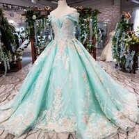 HTL154G1 farbe formales kleid weg von schulter schatz applique spitze abendkleid lange braut kleid party kleider damen abendkleid