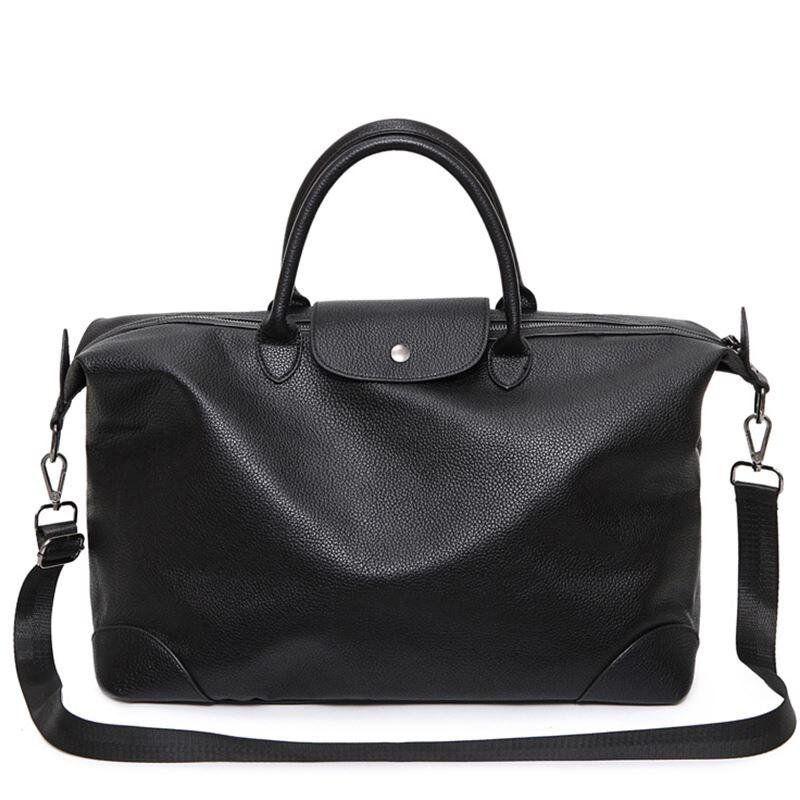 2018 Black Male PU Leather Big Sports Bag For Women Fitness Men Gym Bag Lady Shoulder Bag Tote Handbag Duffel Bolsa Sac De Sport