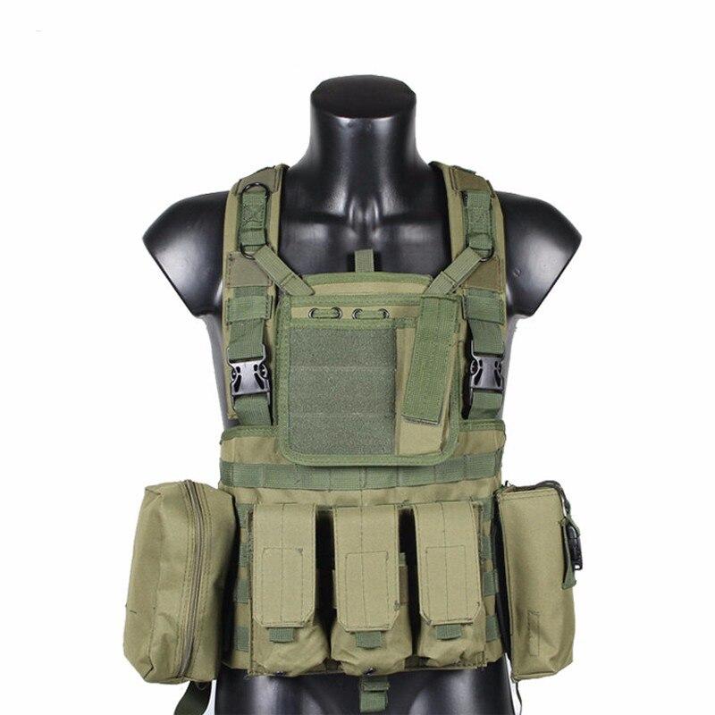 Gilet tactique RRV, gilet Molle, Nylon 600D, équipement tactique Airsoft Tatico, noir, bronzage, OD vert, boisé, CP, ACU