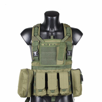 RRV Tactical Vest, Molle Vest, 600D Nylon, Airsoft Tactial Gear Colete Tatico, Black, Tan, OD Green, Woodland, CP, ACU