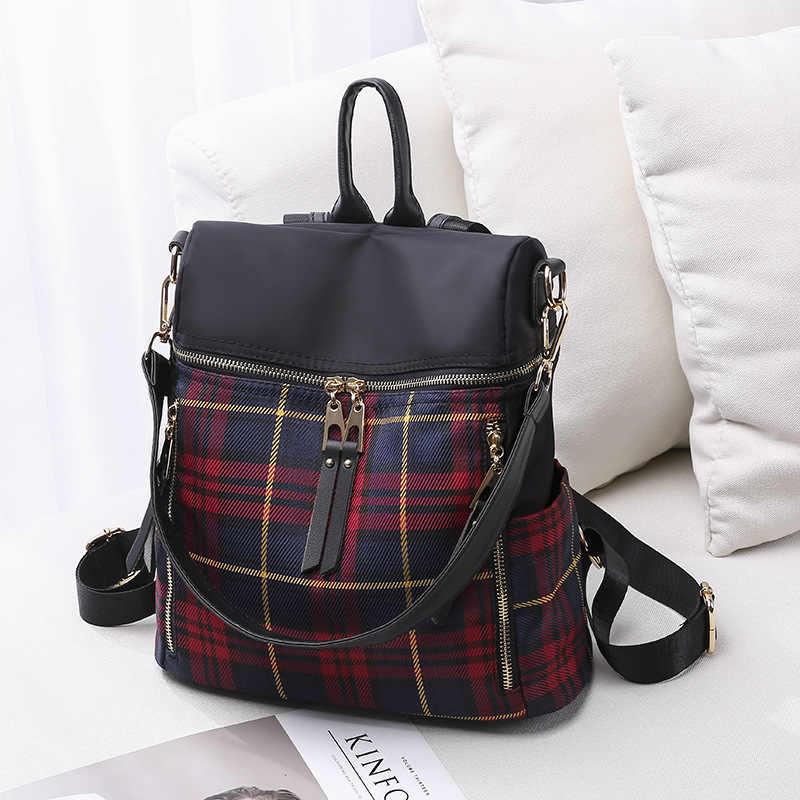 Wodoodporne wzory Korea moda torba poprzez kobiet dwukrotnie na ramię młodzieży szkoła torby Notebook Leptop plecak