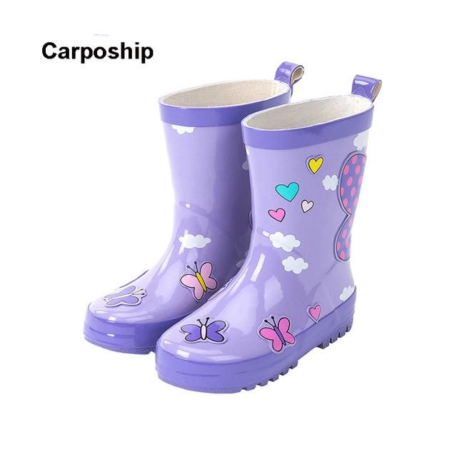45f6ce8be36 Crianças do bebê do menino moda astronauta chuva botas de Inverno Crianças  Antiderrapante Sapatos Sapatos de